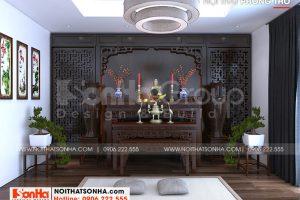 17 Không gian nội thất phòng thờ biệt thự hiện đại mặt tiền 12,3m tại hải phòng sh btd 0075