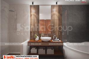18 Cách bố trí nội thất phòng tắm biệt thự 3 tầng phong cách hiện đại tại hải phòng sh btd 0075