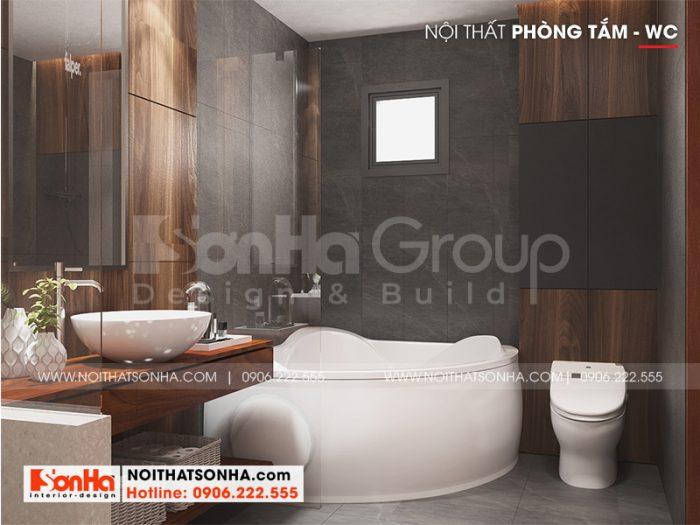 Mẫu thiết kế nội thất phòng tắm mang đến sự tiện nghi cho gia chủ
