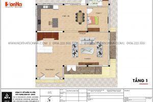 20 Mặt bằng tầng 1 biệt thự hiện đại sang trọng tại hải phòng sh btd 0075