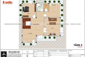 22 Mặt bằng tầng 3 biệt thự 3 tầng kiểu hiện đại sh btd 0075