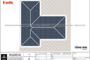23 Bản vẽ tầng mái biệt thự 3 tầng mặt tiền 12,3m tại hải phòng sh btd 0075