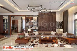 5 Thiết kế nội thất phòng khách biệt thự mặt tiền 12,3m kiểu hiện đại tại hải phòng sh btd 0075