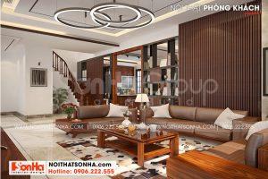 6 Mẫu nội thất phòng khách biệt thự 3 tầng kiểu hiện đại tại hải phòng sh btd 0075
