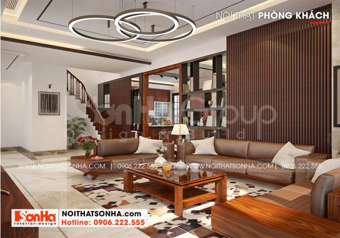 Ý tưởng trang trí nội thất không gian phòng khách đẹp hiện đại với màu sắc hài hòa, chuẩn phong thủy