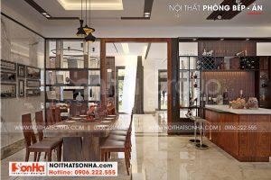 7 Không gian nội thất phòng bếp ăn biệt thự hiện đại mái thái tại hải phòng sh btd 0075