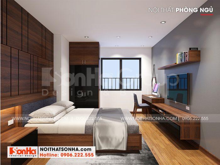 Phương án thiết kế phòng ngủ phong cách hiện đại với nội thất gỗ cao cấp