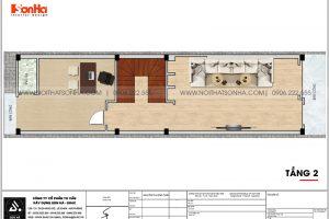 12 Bản vẽ tầng 2 nhà ống liền kề khu đô thị waterfront hải phòng wfc 006