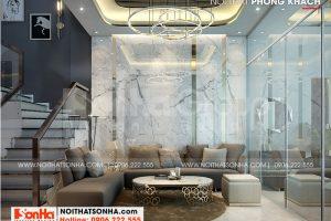 2 Mẫu nội thất phòng khách kiểu hiện đại wfc 006