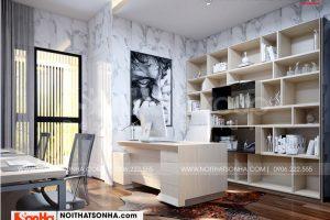 5 Trang trí nội thất phòng làm việc kiểu hiện đại wfc 006