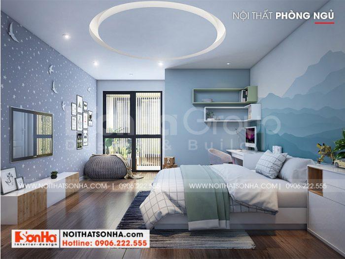 Mẫu phòng ngủ trang trí đẹp và hiện đại dành cho con trai với tone màu cá tính nhất