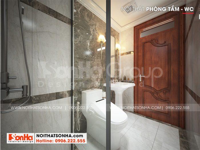Thiết kế nội thất phòng tắm và vệ sinh ấn tượng với gạch ốp màu sắc đẹp