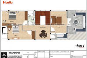 14 Bản vẽ tầng 2 nhà ống tân cổ điển 2 tầng tại sài gòn sh nop 0193