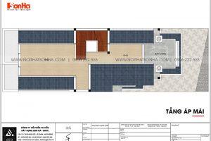 15 Mặt bằng tầng áp mái nhà ống tân cổ điển mái thái tại sài gòn sh nop 0193