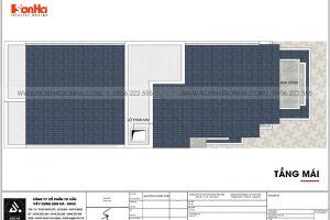 16 Bản vẽ tầng mái tầng mái nhà ống tân cổ điển mặt tiền 6m tại sài gòn sh nop 0193
