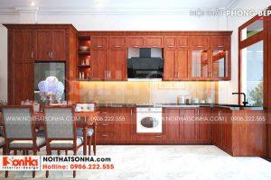 4 Cách trang trí phòng bếp nhà ống kiểu tân cổ điển mặt tiền 6m tại sài gòn sh nop 0193