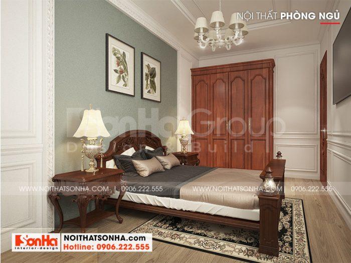 Mẫu phòng ngủ tân cổ điển với sàn gỗ và sự tinh tế trong sử dụng màu sắc