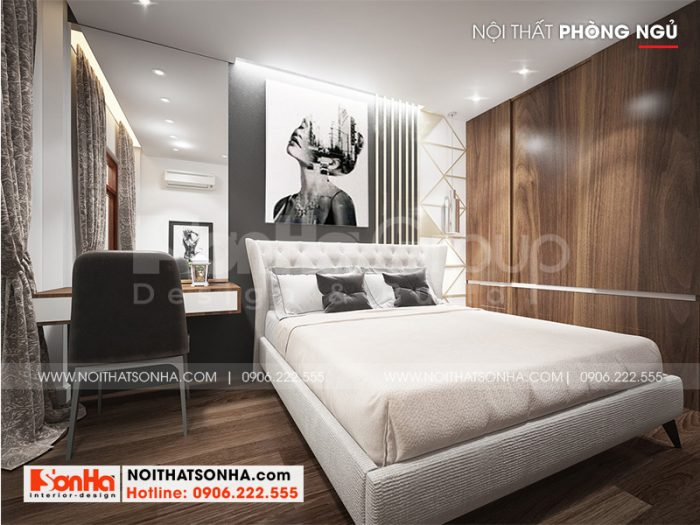 Phong cách tân cổ điển mang đến cho không gian phòng ngủ nhà phố sự sang trọng và ấm cúng
