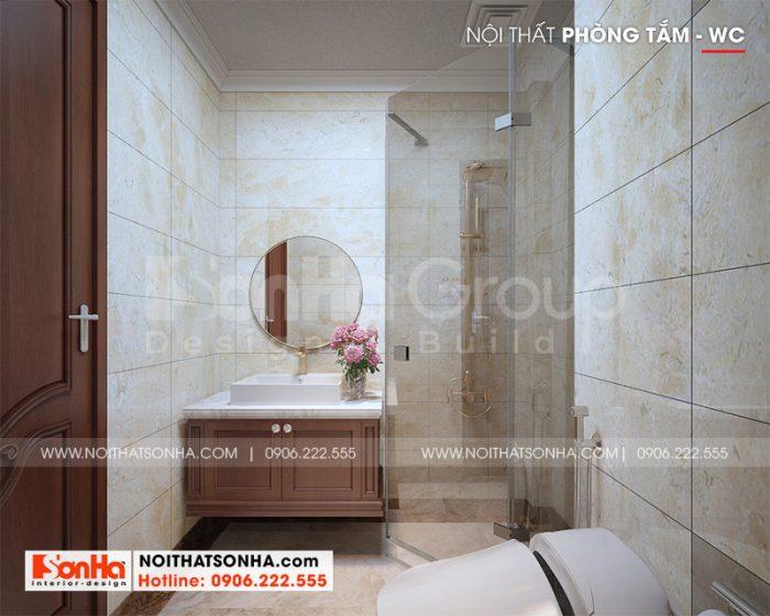 Mẫu thiết kế phòng tắm – wc nhà phố với nội thất hiện đại, tiện nghi