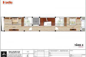 19 Bản vẽ tầng 4 nhà ống tân cổ điển 3 phòng ngủ tại hà nội sh nop 0199