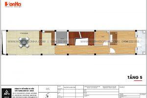 20 Mặt bằng tầng 5 nhà ống mặt tiền 3.4m kiểu tân cổ điển tại hà nội sh nop 0199