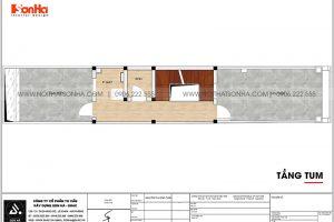 21 Bản vẽ tầng tum nhà ống tân cổ điển 5 tầng tại hà nội sh nop 0199