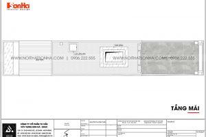22 Mặt bằng tầng mái nhà ống tân cổ điển tại hà nội sh nop 0199