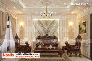 4 Trang trí nội thất phòng khách kiểu tân cổ điển đẹp tại hà nội sh nop 0199