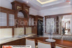 5 Cách bố trí nội thất phòng bếp nhà ống tân cổ điển 3 phòng ngủ tại hà nội sh nop 0199