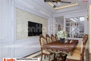 7 Thiết kế nội thất phòng ăn nhà ống tân cổ điển 5 tầng tại hà nội sh nop 0199