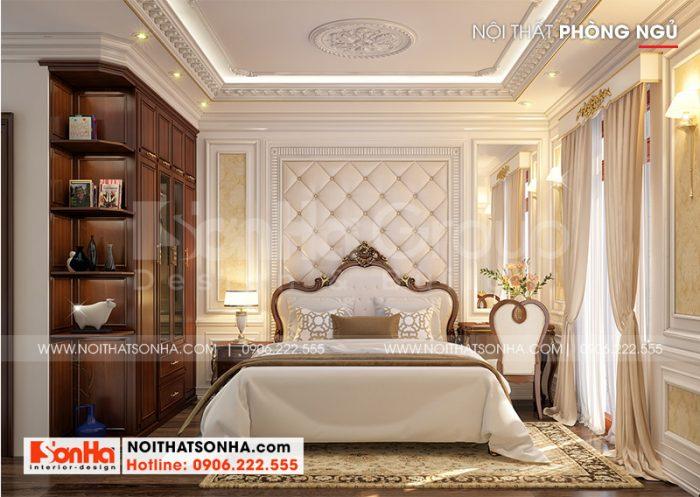 Mẫu thiết kế phòng ngủ master đẹp phong cách tân cổ điển đẳng cấp mang đến không gian riêng tư lý tưởng cho gia chủ