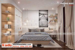 9 Không gian nội thất phòng ngủ 2 nhà ống tân cổ điển 3 phòng ngủ tại hà nội sh nop 0199