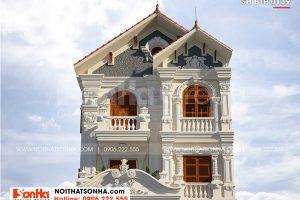 1 Thiết kế biệt thự kiểu tân cổ điển đẹp tại hải phòng sh btp 0139