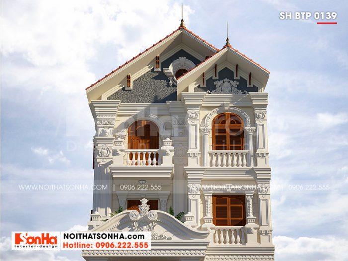 Cận cảnh kiến trúc biệt thự tân cổ điển được các kiến trúc sư thiết kế tinh tế đến từng tiểu tiết