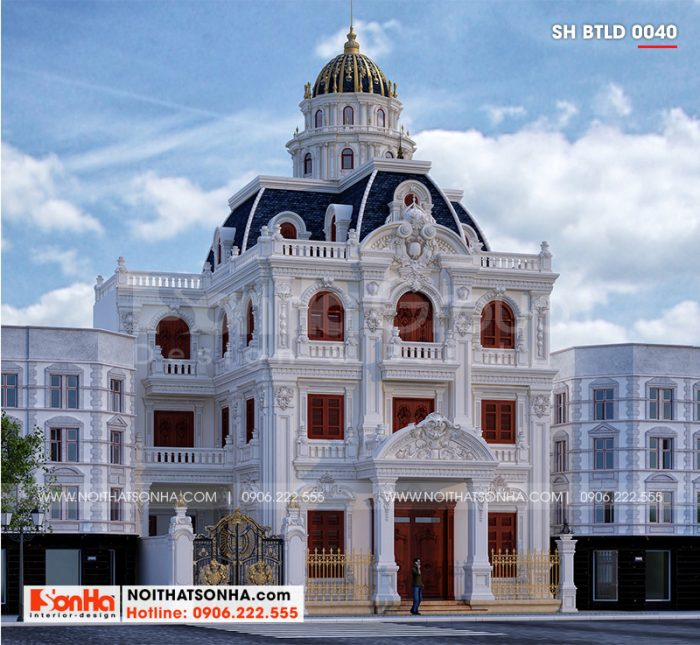 Ngôi biệt thự lâu đài pháp 3 tầng 1 tum tại Hà Nội sở hữu đường nét kiến trúc tinh tế mang vẻ đẹp đầy sức mê hoặc