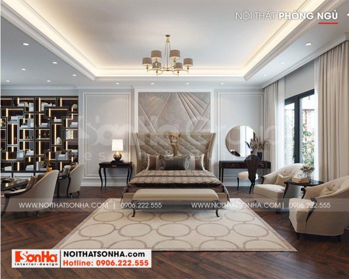 Cách trang trí phòng ngủ master sang trọng với đồ nội thất da tạo hình đẹp, sang trọng