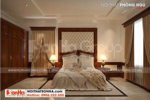 11 Bố trí nội thất phòng ngủ 3 biệt thự tân cổ điển đẹp tại hải phòng sh btp 0139