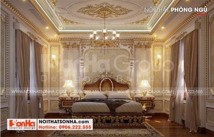 Ý tưởng thiết kế phòng ngủ cổ điển tiện nghi có nội thất đẹp đậm chất cổ điển theo đúng nguyện vọng của chủ đầu tư