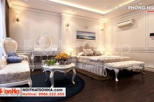 12 Không gian nội thất phòng ngủ tầng 4 nhà ống hiện đại đẹp 6 tầng tại hà nội sh nod 0211