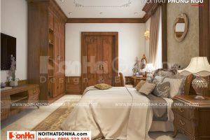 12 Thiết kế nội thất phòng ngủ 4 biệt thự tân cổ điển 3 tầng tại hải phòng sh btp 0139