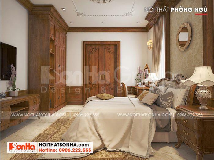 Từng vật dụng nội thất trong căn phòng ngủ đều được KTS Sơn Hà lên phương án bố trí khoa học