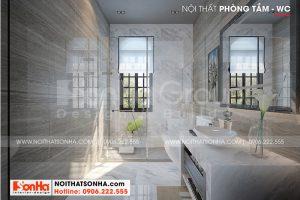 12 Thiết kế nội thất phòng tắm wc biệt thự khu đô thị vinhome inperia hải phòng