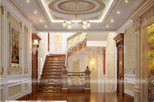 13 Thiết kế nội thất sảnh thang biệt thự lâu đài 2 mặt tiền tại hà nội sh btld 0040