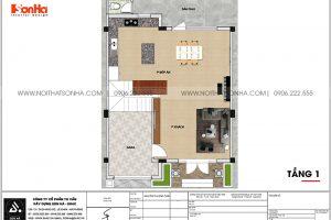 14 Bản vẽ tầng 1 biệt thự khu đô thị vinhome inperia hải phòng