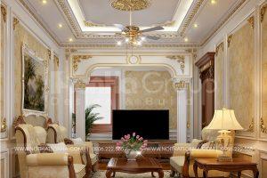 14 Mẫu nội thất phòng sinh hoạt chung biệt thự lâu đài cổ điển tại hà nội sh btld 0040