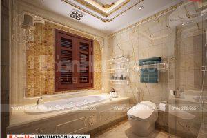 15 Bố trí nội thất phòng tắm wc biệt thự lâu đài 3 tầng tại hà nội sh btld 0040