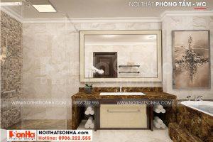15 Cách trang trí nội thất phòng tắm wc biệt thự tân cổ điển có gara tại hải phòng sh btp 0139