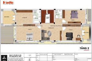 17 Bản vẽ tầng 2 biệt thự tân cổ điển đẹp tại hải phòng sh btp 0139