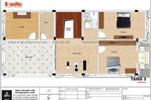18 Mặt bằng công năng tầng 3 biệt thự phong cách tân cổ điển tại hải phòng sh btp 0139