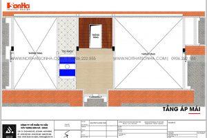 19 Bản vẽ tầng áp mái biệt thự tân cổ điển sân vườn tại hải phòng sh btp 0139
